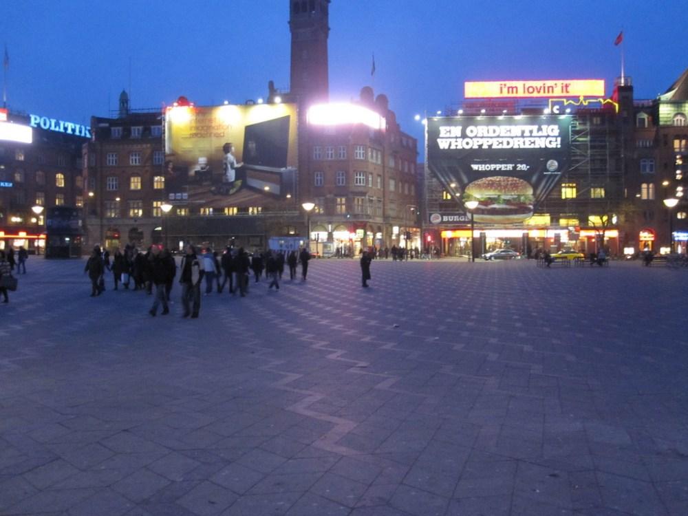 Central square in Copenhagen ahead of tonight's reception