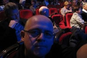 Sitting in China Teatern, Stockholm