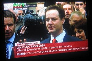UK election on BBC World
