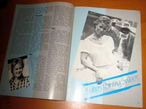 Frida from ABBA in the ABBA magazine