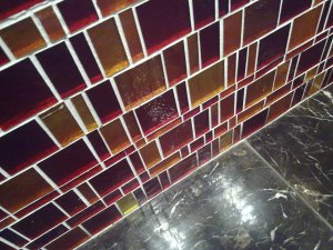 Bathroom tiles at the Flinders Inn