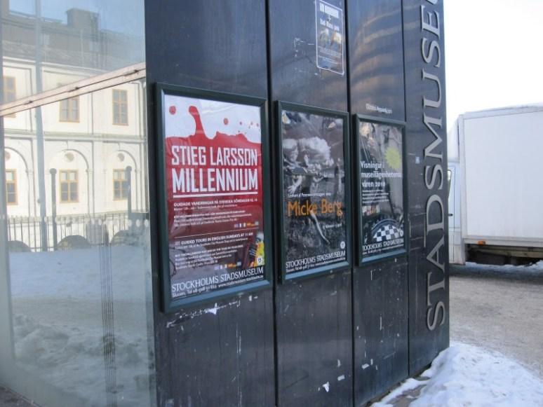 Stieg Larsson exhibition at Stadsmuseet in Stockholm