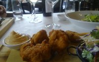 Fried chicken at District Dining