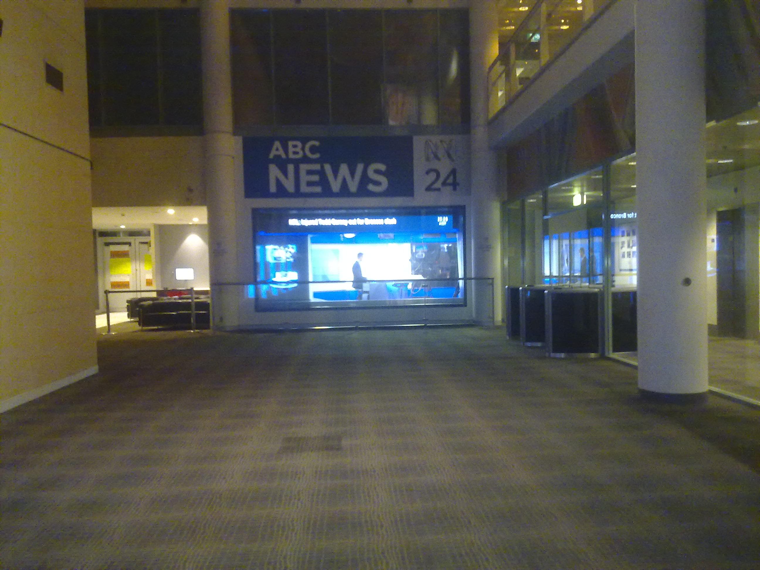 ABC News 24 at night