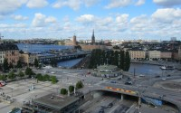 The view of Stockholm from Katarinahissen