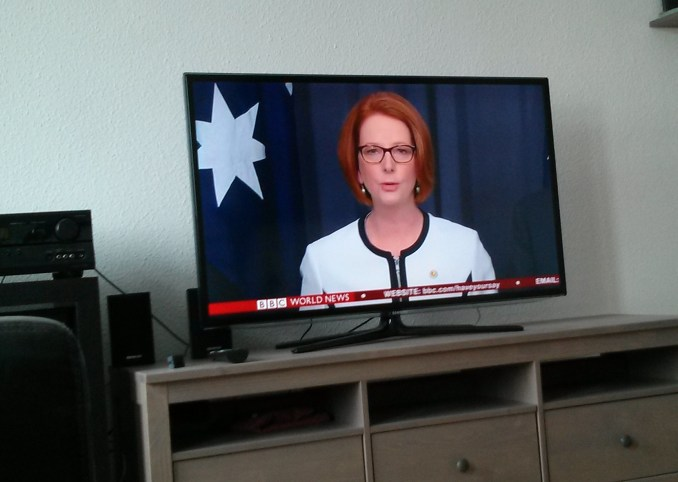 Watching the PM on BBC World