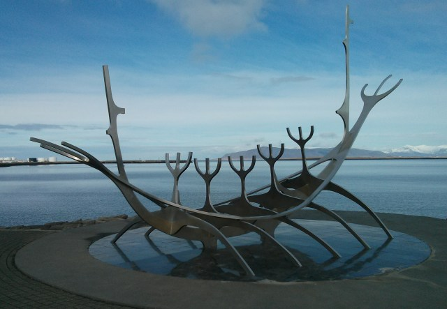 Gorgeous sculpture on the waterfront in Reykjavik