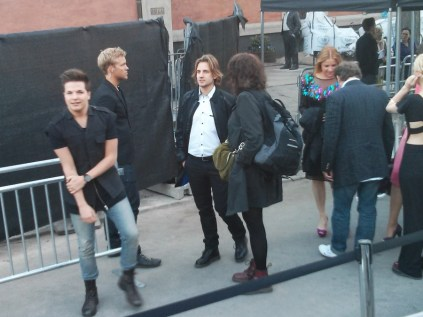 Robin Stjernberg, Martin Rolinski, Shirley Clamp and others at the opening of The ABBA Museum in Stockholm