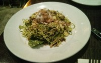 Shaved Brussel Sprout Salad with Pancetta and Poached Egg