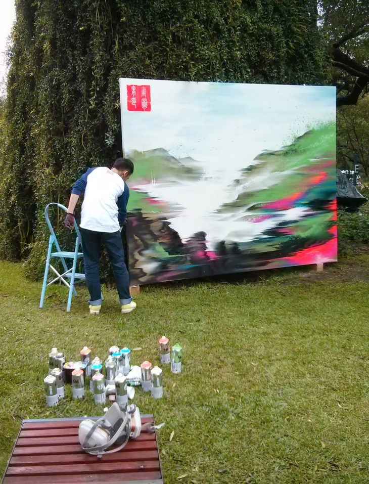 Live art by Hua Tunan (画图男)