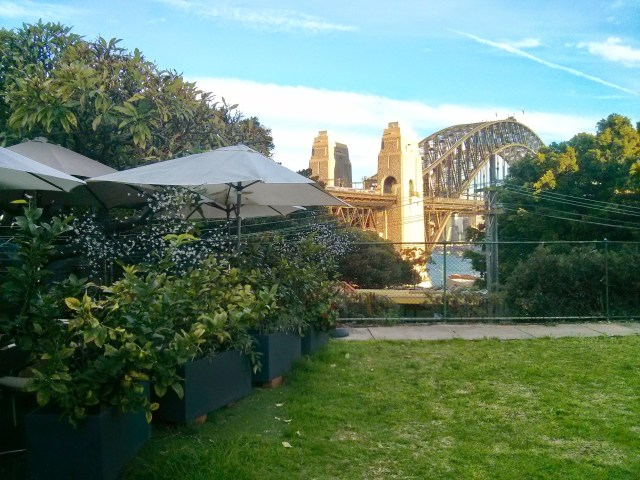 The view from La Capannina Restaurant in Milsons Point, Sydney.