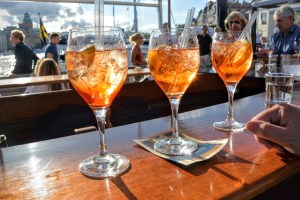Aperol Spritzer on the waterfront in Stockholm