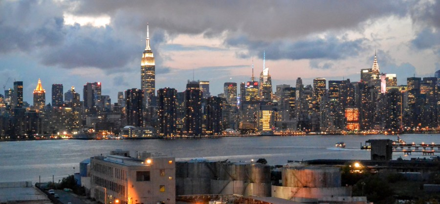 View from the Wythe Hotel, Brooklyn, looking towards Manhattan
