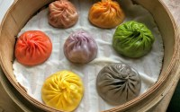 Colourful Dumplings at Din Tai Fung