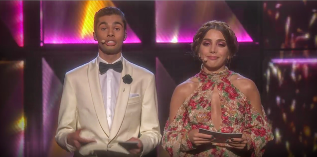 Melodifestivalen 2016 - William Spetz och Gina Dirawi