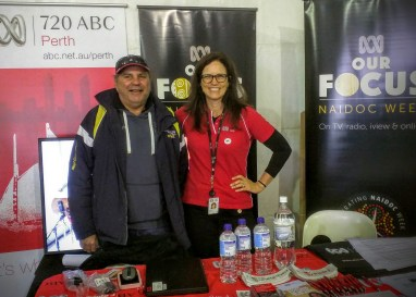 Peter and Sarah from ABC Perth at Aboriginal Day