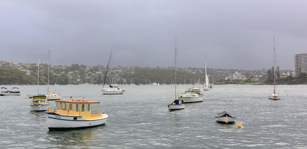 View from the 16ft skiff club at Manly in Sydney