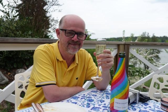 Drinking Rainbow Cava