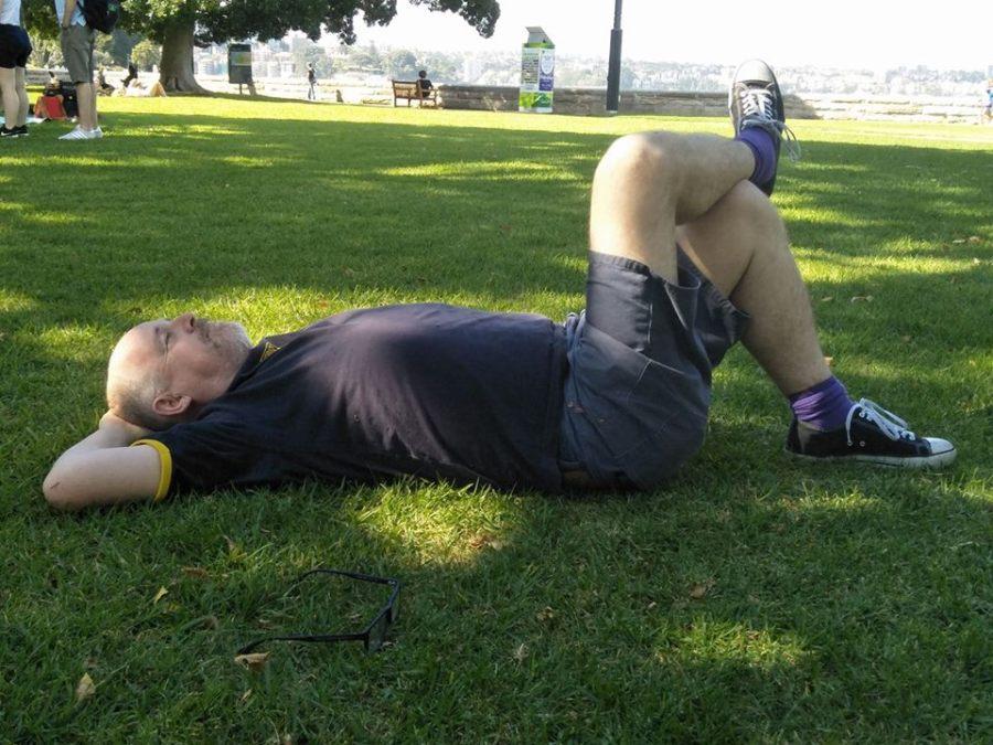 Resting in the Botanic Gardens in Sydney