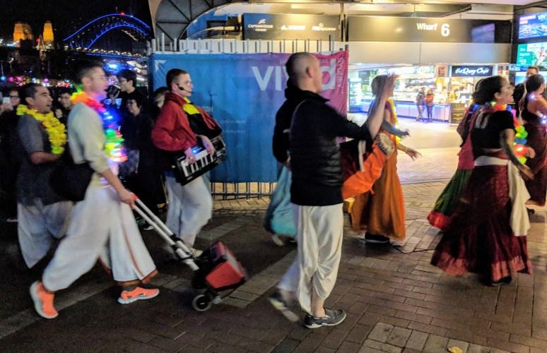 A festival of light for Hare Krishna devotees