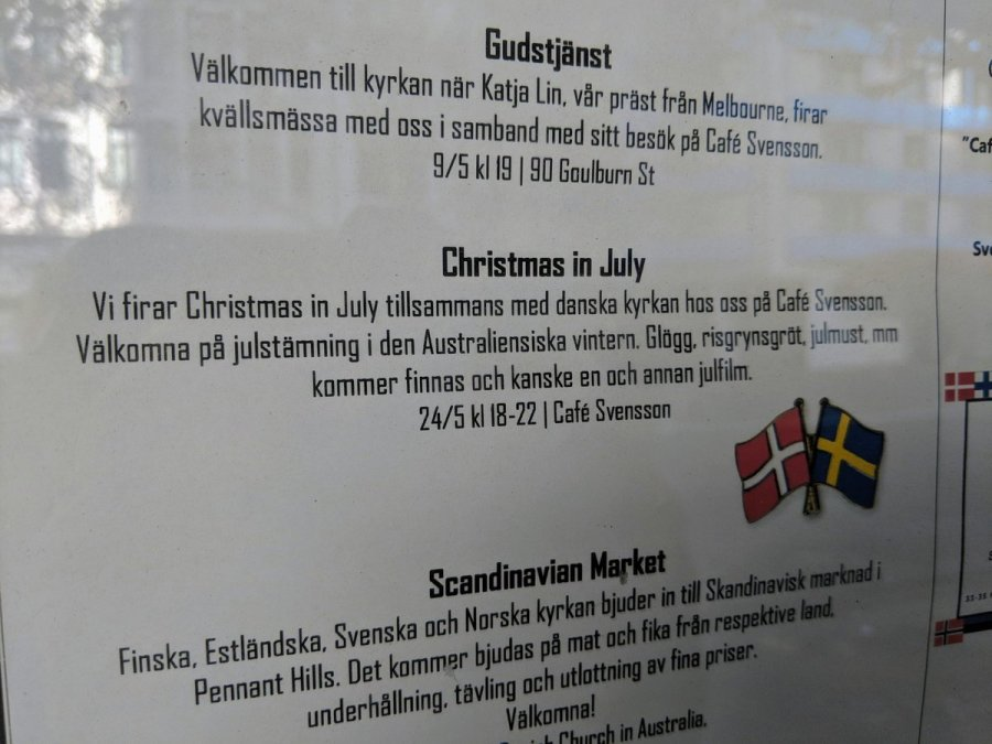 Giggled slightly when I saw Christmas in July (being in May and currently 18 degrees not minus 18).