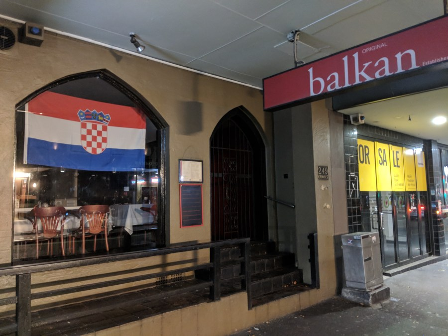 A restaurant I regularly visit, celebrates Croatia's involvement in the World Cup final