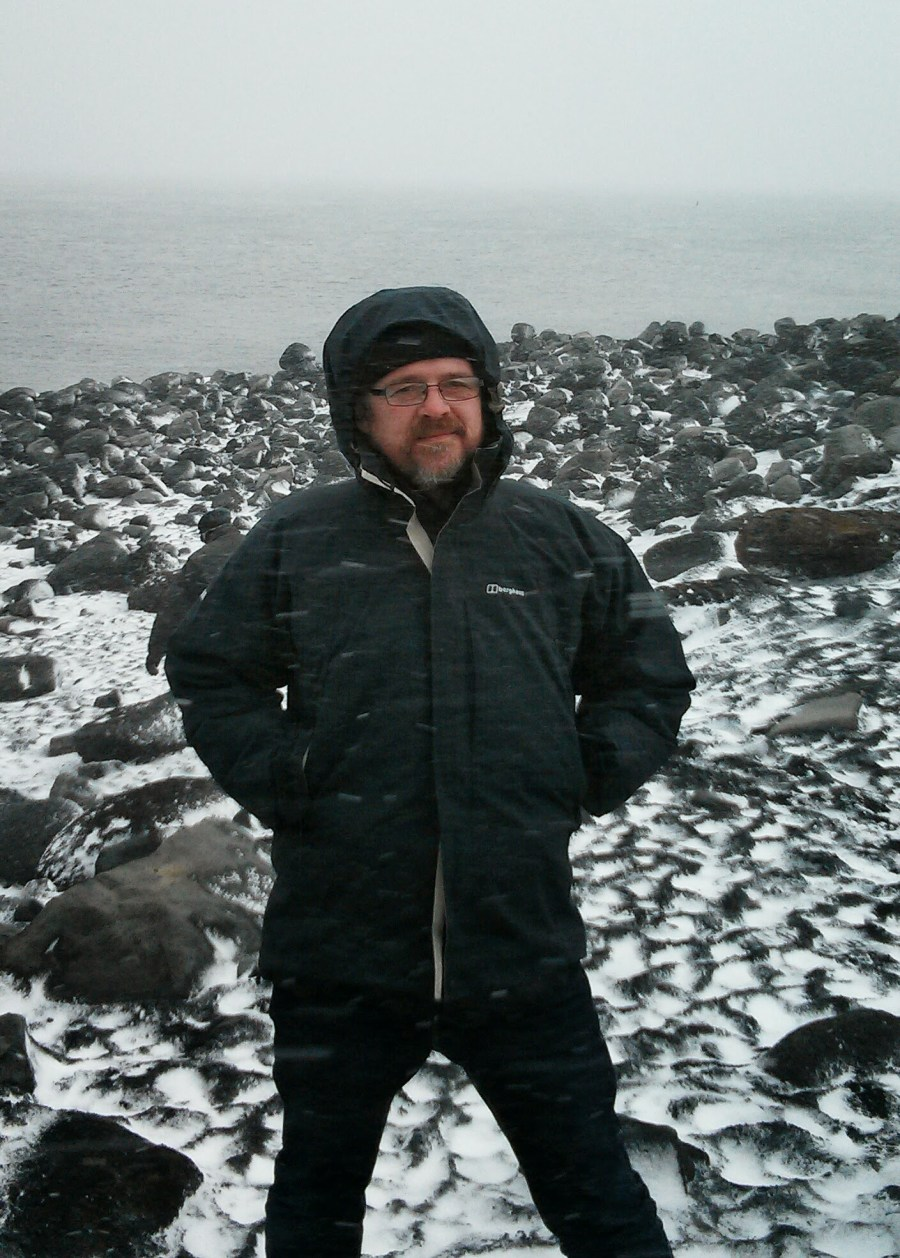On a beach in Iceland. It was sunny 30 minutes earlier.
