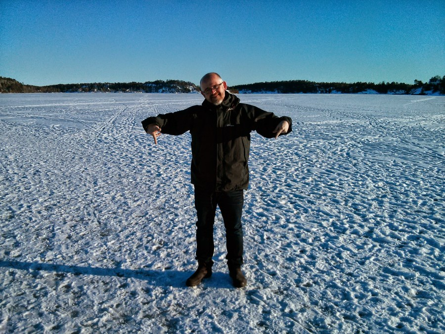 Walking on ice in Stockholm