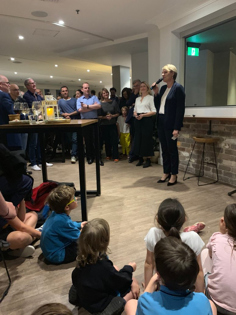 Tanya Plibersek speaks at the 50 Secrets book launch on Tuesday night. Pic from Tanya's Twitter feed