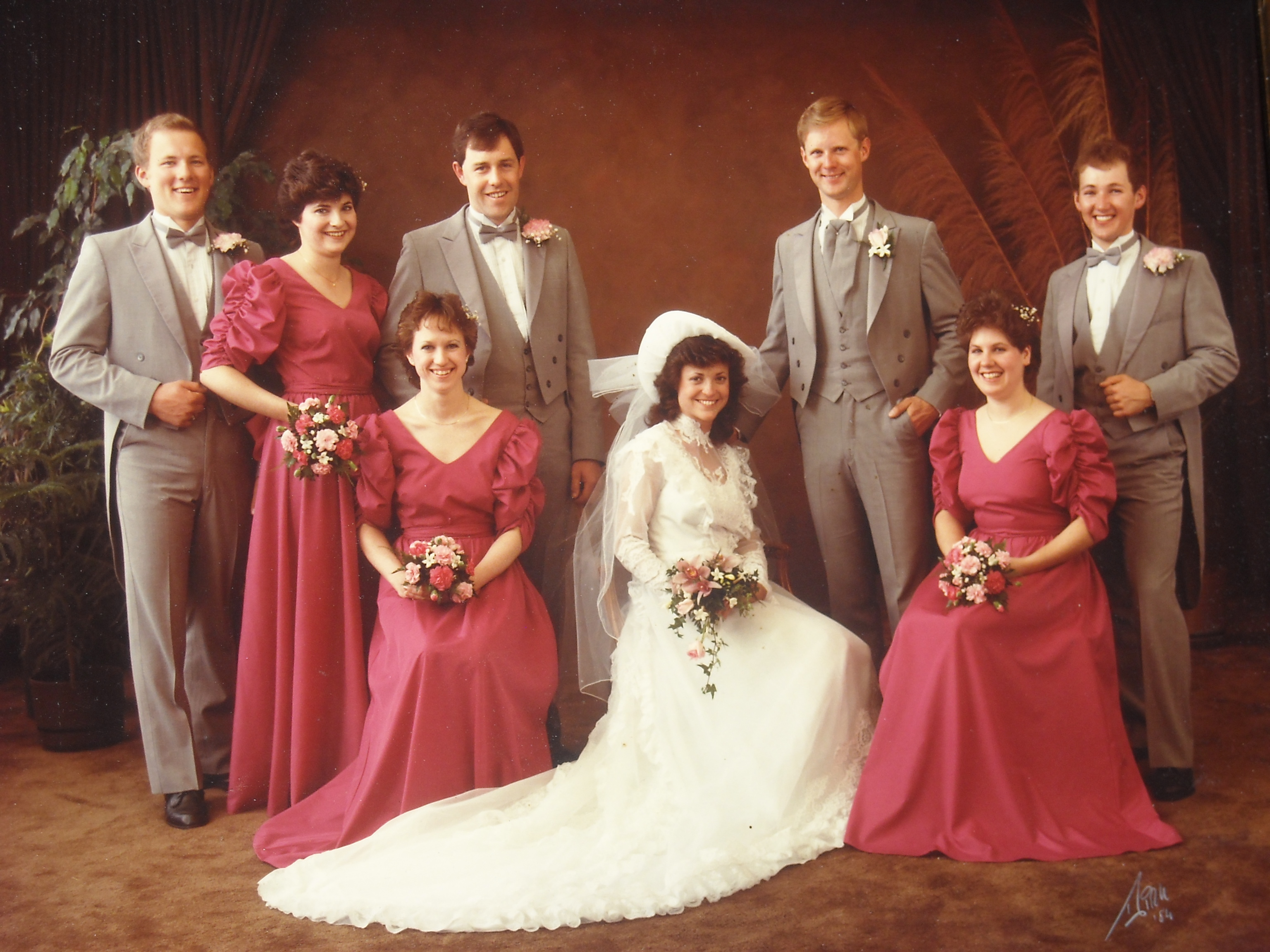 Our Wedding Party - 28 April 1984