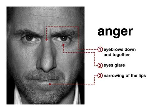 """Dr. Cal Lightman (Tim Roth), the world's leading deception expert portrays """"anger,"""" one of the seven universal micro-expressions in """"Lie to Me."""" (photo ©2008 Fox Broadcasting Co. Cr: Frank Ockenfels/Fox)"""