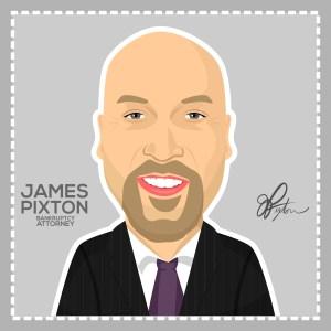 James Pixton in cartoon form.