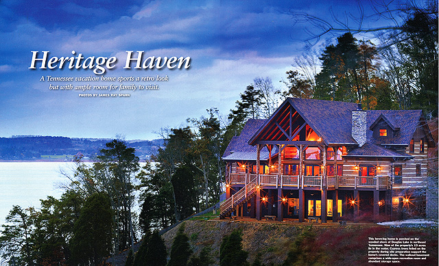 project featured on the cover of log home living rsquo s ldquo best homes