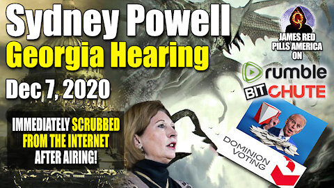 They Removed This Video Seconds After It Aired! Sidney Powells Kraken vs Deep State Georgia Judge