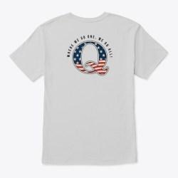Qanon Where We Go One We Go All On Back Light Steel T-Shirt Back