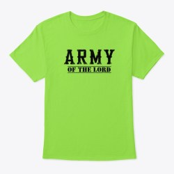 Army Of The Lord Merchandise Lime T-Shirt Front
