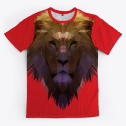 Jesus The Lion Merchandise Red T-Shirt Front