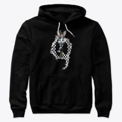 Qanon Rabbit Tshirts & Hoodies Black T-Shirt Front