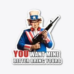 Uncle Sam & Molon Labe  Standard T-Shirt Front