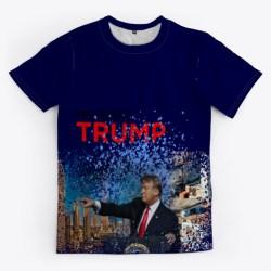 Donald Trump Makes A Splash! Dark Navy T-Shirt Front