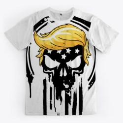 Punisher With Trump Hair Merchandise Standard T-Shirt Front