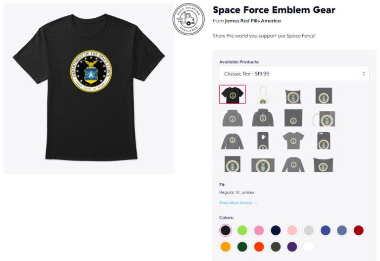CLICK HERE To Get Your Space Force  Gear!