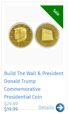 Build The Wall & President Donald Trump Commemorative Presidential Coin