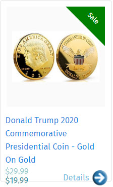 Donald Trump 2020 Commemorative Presidential Coin - Gold On Gold