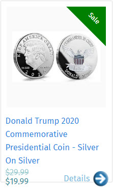Donald Trump 2020 Commemorative Presidential Coin - Silver On Silver