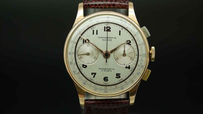 Chronographe Suisse 18ct Gold Chronograph