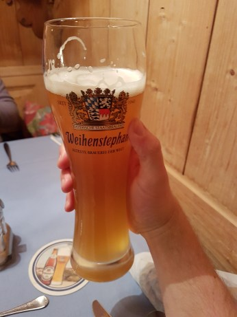 Prost! Welcome to Germany, land of the beer. On this trip I discovered Weissbier, which in its unfiltered form, makes for a unique, tasty, frothy treat. Sort of like the Hefeweizen I'm used to, only more floral and playful. I'm still hooked months later.
