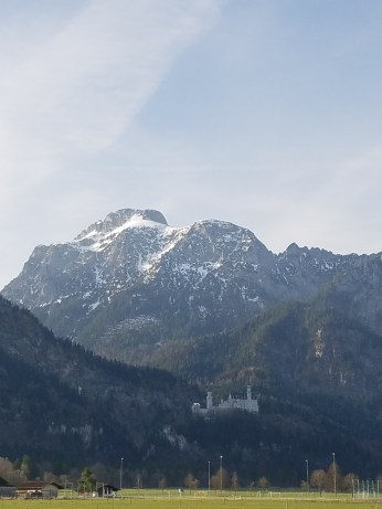 Neuschwanstein at a distance.