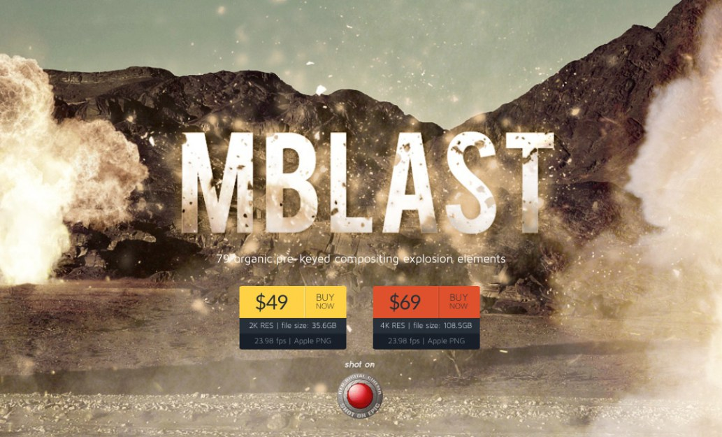 MotionVFX.com Releases MBlast in association with Cine' Foundry and Vidmuze