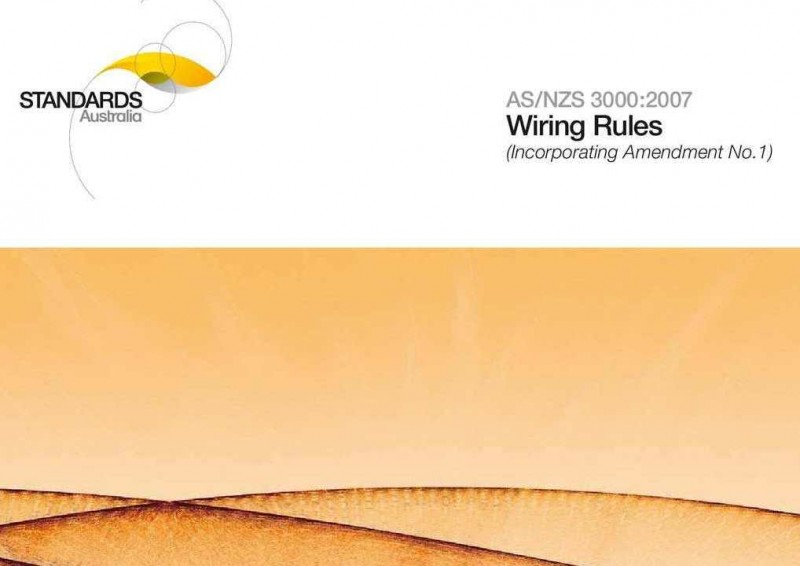 As Nzs 3000 2007 Wiring Rules